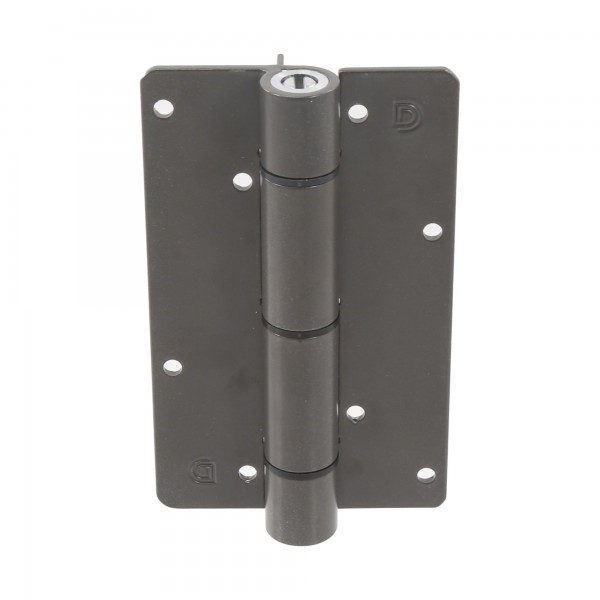 Aluminum Adjustable Self-Closing Gate Hinge, Aluminum Ridges, No Screws - D&D KF3BR (Single) - Bronze
